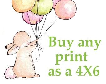 YOU CHOOSE- Pick a 4X6 Print. Nursery Art Home Decor
