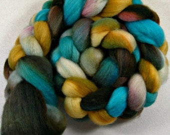 Golden Turquoise 1 Bluefaced Leicester wool top (4.3 ounces)