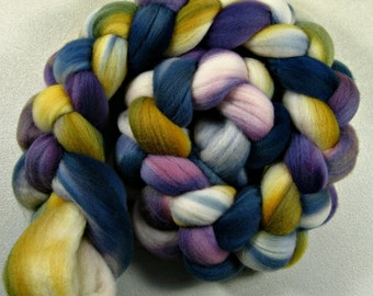 Sale 10% off! Chakra Light merino wool top for spinning and felting (3.9 ounces)