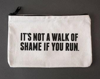 walk of shame zipper pouch. #081