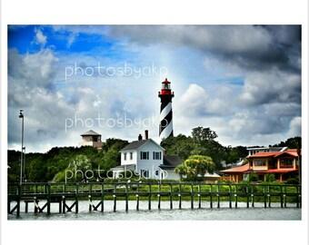 "12"" x 18"" Saint Augustine, FL Lighthouse Canvas Print"