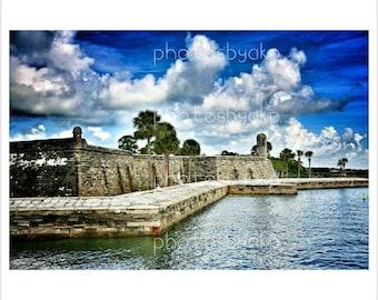 """12"""" x 18"""" Saint Augustine, FL Castillo de San Marcos Canvas Print"""