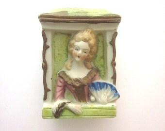 Vintage Porcelain Vase Marie Antoinette Occupied Japan