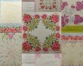 Vintage Hankies lot of 11 floral handkerchiefs with flowers