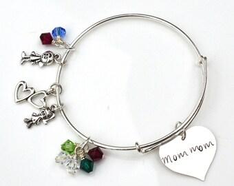 Personalized Popular Grandma MomMom Mother Bracelet