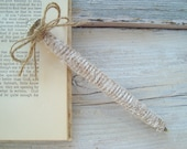 Wedding guest book pen . twine wrapped and rhinestone pen . rustic wedding guest book pen
