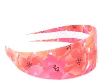 SALE Wide Floral Headband - Bright Summery Flowers