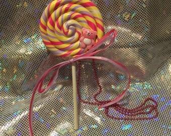 3-Way Sweet Lollipop Necklace / Brooch / Hairclip