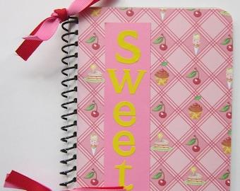 Sweet Spiral Bound Altered Notebook