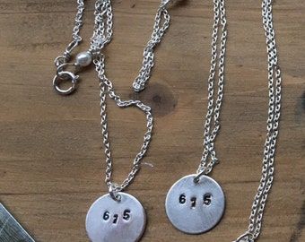 Dainty Silver Area Code Necklace