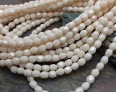 Vintage Bride Fire Polish 3mm Czech Glass Beads