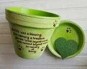 Personalized Pet Memorial - Dog Memorial Gift - Cat Memorial Gift - Pet Sympathy - Painted Flower Pot - Seed Card - Animal Sympathy