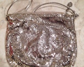 Vintage silver mesh Whiting & Davis purse evening bag