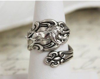 SALE Lion Spoon Ring