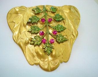Red Flower Brooch KL Design