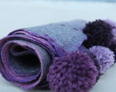 "Sale for Irina! Felted scarf with pom-poms  - ""Winter Bliss"""