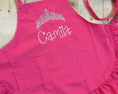 Princess Crown Child Apron with Frill
