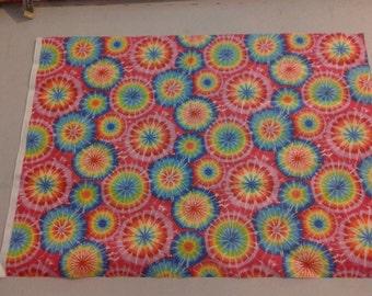 Tie Dye circles cotton fabric. 245326