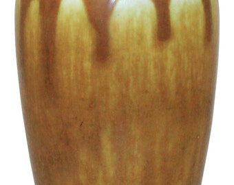 Rookwood Pottery 1926 Caramel Brown Vase Shape 2327