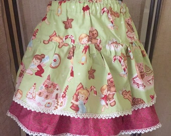 Girls Shabby Chic style Christmas Skirt