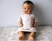 Vintage composition baby doll, Shabby composite doll baby