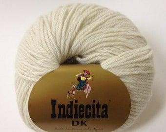 100% Baby Alpaca Yarn, DK Weight, 50 g Natural White