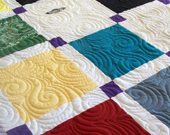 "Reserved for Jenny K - T-Shirt Quilt, Twin Size 64"" x 87"" (20 T-Shirts) - Payment 3 of 3"
