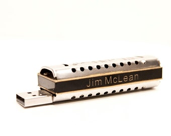 Personalized, Playable Harmonica Combo 8GB USB Drive COPD Therapy (no Rx required)