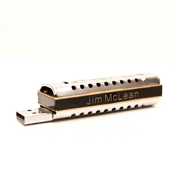 Computers and Peripherals Personalized Harmonica 8GB USB Drive Combo (Playable) COPD Therapy