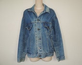 vintage Levi's jacket 80s denim Levis trucker jean jacket men's large
