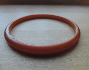 butterscotch bakelite bangle 1950's spacer bracelet