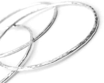 Hammered Sterling Silver Bangle Bracelet Set