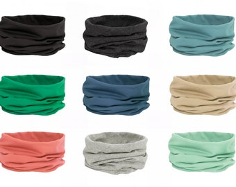 Jersey  Snood Scarf  (available in 9 colours)