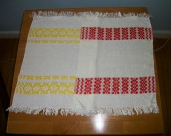 Vintage Two Small  Woven Table Runners/Placemats