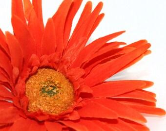 Orange Gerbera Spider Daisy - Artificial Flowers, Silk Flower Heads - PRE-ORDER