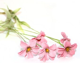 5 Small Light Pink Daisy Stems - Arificial Flowers - PRE-ORDER