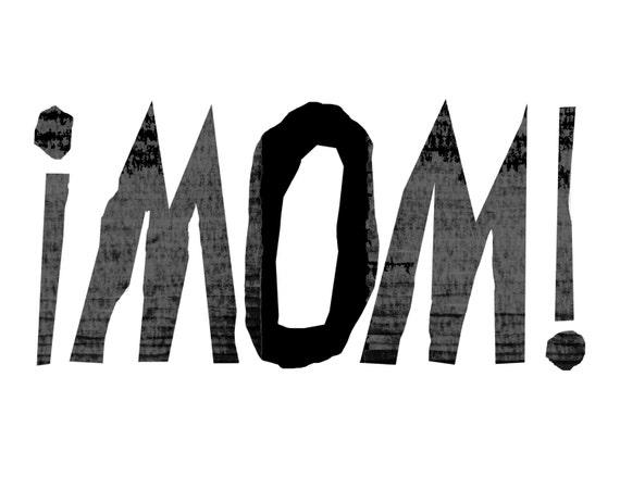 minimalist pop art print: MOM
