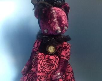 12 inch Artist Handmade Plush Teddy Bear Miss Frankenstein by Sasha Pokrass
