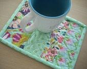 garden party tango mug rug - FREE SHIPPING