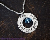JUST KEEP SWIMMING Necklace, Jewelry for Swimmers, Inspirational Jewelry
