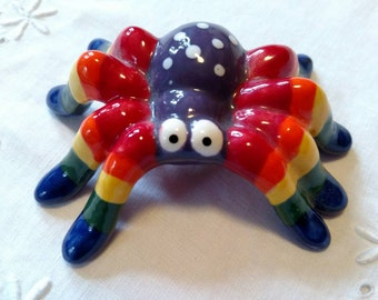 Rainbow Ceramic Spider