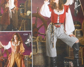 Plus Size Pirate Costume Sewing Pattern UNCUT Simplicity 3677 Sizes 14-20