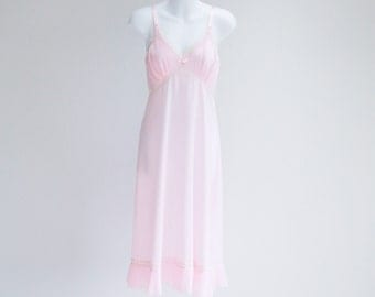 Soft Pink, Accordian Pleat Full Slip- Sz M - L