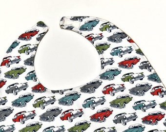 Grandpa Adult Bib, Men Car Clothes protector Reversible, Husband Gift, Craft Senior Elderly Bib Christmas Gift, Special Needs, Nursing Home