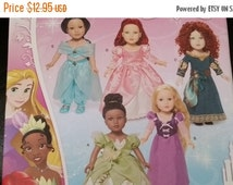 Disney Princess Doll Clothing --UNCUT Multi Patterns --Great for 18 in American Girl Dolls -- 40-70% off Patterns n Books SALE