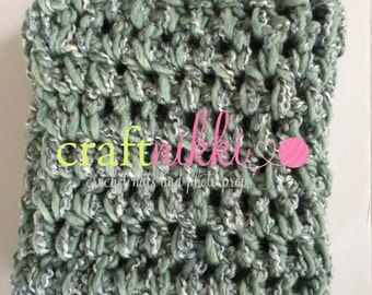 CLEARANCE! Ready to Ship! Mini Blanket Photo Prop in Sea Foam Green