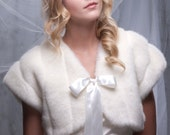 Winter wedding faux fur bolero Available in different textures and colors of faux fur Style A
