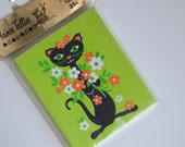 Vintage 1960s Mod Cat Bridge Tally Cards - New Old Stock