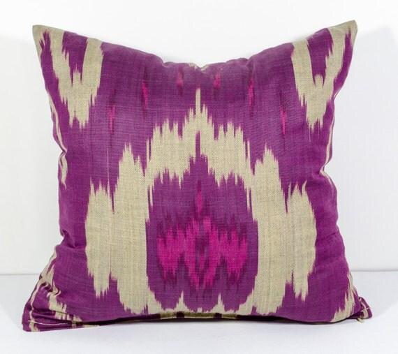 15x15 magenta ikat pillow cover ikat pillow magenta