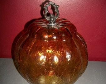 Amber Glass Light Globe